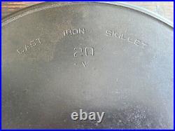 Vintage #20 cast iron Hotel skillet Wagner/ Griswold. Wagwold