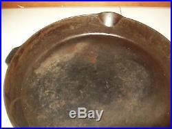 Vintage 718 A Griswold # 14 Cast Iron Skillet 15 1/4 Inch Large Logo Heat Ring