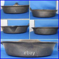 Vintage #9 Gate Marked Heat Ring One Pour Spout Cast Iron Skillet Unmarked