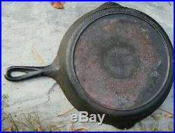 Vintage # 9 Griswold Slant Logo Erie 710 X Cast Iron Skillet Heat Ring