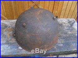 Vintage/Antique Cast Iron Wash/ Scalding Pot 23 Dia, 12 Deep