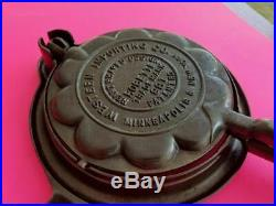 Vintage Antique Griswold, WESTERN IMPORTING WAFFLE IRON, Heart Shaped, Restored