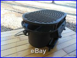 Vintage Birmingham Stove and Range Cast Iron Sportsman Grill RARE Nice