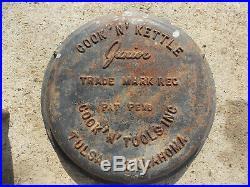 Vintage COOK N KETTLE JUNIOR CAST IRON COOKER GRILL BBQ COMBO Jr