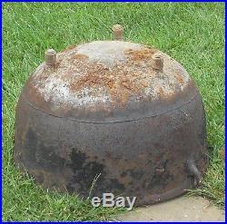 Vintage Cast Iron 3 Ft Large 22 CAMPFIRE COWBOY GYPSY KETTLE CAULDRON