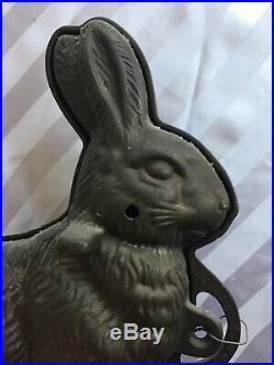 Vintage Cast Iron Rabbit Bunny Cake Chocolate Mold Antique Easter Erie PA 11