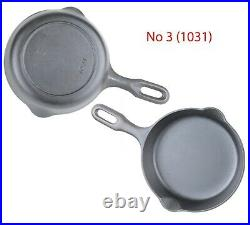 Vintage Complete Set of Griswold Iron Mountain Series Cast Iron Skillets
