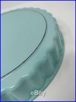 Vintage Cousances 26 LeCrueset Enamel Cast Iron Fluted Pie Tart Quiche Pan 10