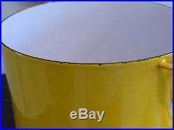 Vintage Dansk Kobenstyle Cast Iron And Enamel 8 Qt Yellow Stock Pot France