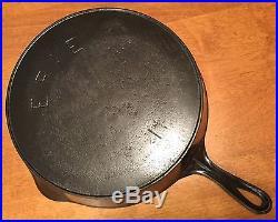Vintage ERIE No 11 Pre Griswold Cast Iron Skillet 1880's FLAT