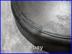 Vintage GRISWOLD #14 Cast Iron Skillet 718 Large Block Letter Logo with Heat Ring