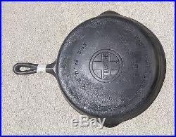 Vintage GRISWOLD Cast Iron SKILLET Frying Pan # 10 LARGE LOGO