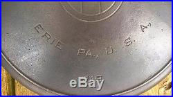 Vintage GRISWOLD Cast Iron SKILLET Frying Pan #12 LARGE BLOCK LOGO-RESTORED