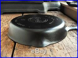 Vintage GRISWOLD Cast Iron SKILLET Frying Pan # 8 LARGE BLOCK LOGO Ironspoon