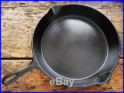 Vintage GRISWOLD Cast Iron SKILLET Frying Pan RESTORED # 11 LARGE BLOCK LOGO