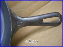 Vintage Griswold #10 Cast Iron Skillet Frying Pan Small Block Logo 716-s USA
