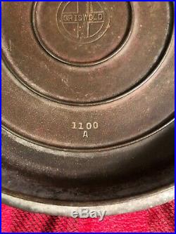 Vintage Griswold 1100A High Dome #10 Cast Iron Skillet Lid Rustic Camp Cookware