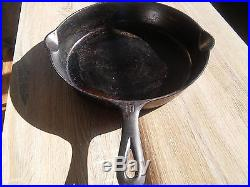 Vintage Griswold 12 inch Cast Iron Skillet with Large Block Logo / Heat Ring 716