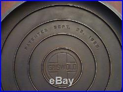 Vintage Griswold # 12 skillet lid, cover with raised letterig