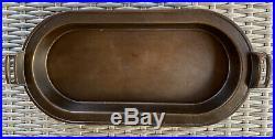 Vintage Griswold 749 Deep Long Cast Iron Pan Slant Logo Skillet Griddle RARE