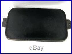 Vintage Griswold #8 Cast Iron Griddle 908 Erie PA Nice Condition Sits Flat