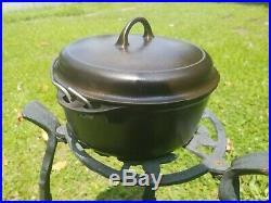 Vintage Griswold # 8 cast iron dutch oven self blasting lid # 1278 c