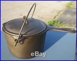 Vintage Griswold Cast Iron Deep Fat Fryer Antique Small Block Logo 1003 Pot
