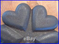 Vintage Griswold Cast Iron Hearts/Star 100 No 960 Excellent Condition