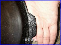 Vintage Griswold Cast Iron No 14 Skillet 15 1/4 Frying Pan HEAT RING