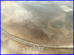 Vintage Griswold Cast Iron No 14 Skillet 15 1/4 Frying Pan HEAT RING never used