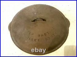 Vintage Griswold Cast Iron No 14 Skillet Lid 15 1/4 Frying Pan Lid never used