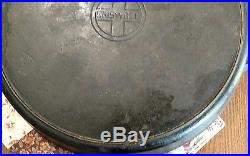 Vintage Griswold Erie No. 20 Hotel Cast Iron Skillet With Heat Ring RARE