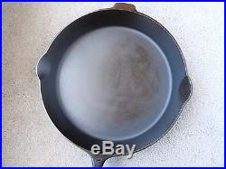 Vintage Griswold Large Block Logo #12 Cast Iron Skillet with Heat Ring Erie PA