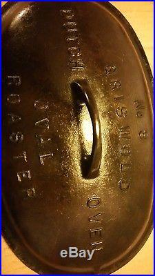 Vintage Griswold Large Block Logo #3 Cast Iron Dutch Oven Oval Roaster