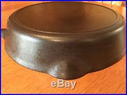 Vintage Griswold No 10 Large Slant ERIE Logo Cast Iron Skillet PN 716 A