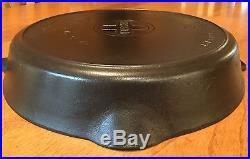 Vintage Griswold No 12 Large Block Logo Cast Iron Skillet PN 719 FLAT
