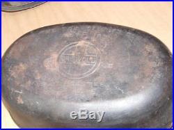 Vintage Griswold No 5 Dutch Oven Oval Roaster 645 Lid 646
