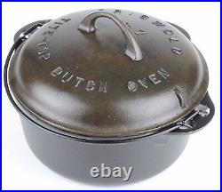 Vintage Griswold No 7 Cast Iron Dutch Oven Restored Conition