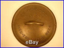 Vintage Griswold No. 8 Cast Iron Tite-Top Dutch Oven Lid # 2551-C. Seasoned
