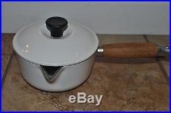 Vintage Le Creuset 7 piece Set Skillet Sauce Pan Lids #14 #18 #20 #26 WARRANTY