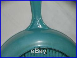 Vintage Le Creuset Enamel Cast Iron RARE PARIS BLUE Skillets # 20 23 9 7-1/2