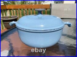 Vintage Le Creuset Enzo Mari La Mama Blue #20 Round Dutch Pot Oven