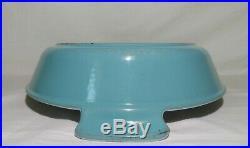 Vintage Le Creuset Roasting Pan #36 RARE HUGE PARIS BLUE EVC 3Qt Open Baker