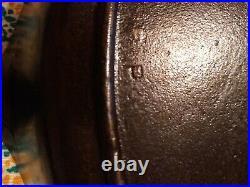Vintage No 14 Three Notch Lodge U. S. Military Cast Iron Skillet With Heat Ring