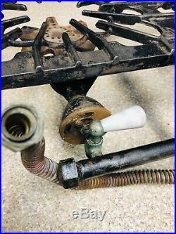 Vintage ORIGINAL GRISWOLD #32 CAST IRON GAS 2 BURNER STOVE VGUC
