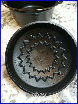 Vintage Plated Wagner Ware No 6 (1266) Cast Iron Dutch Oven very nice