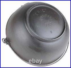 Vintage Pre-Griswold ERIE No 5 (783) Cast Iron Scotch Bowl Restored Condition