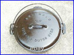 Vintage Rare Griswold #9 Cast Iron Dutch Oven with Matched Lid Seasoned