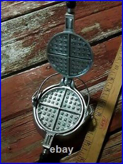 Vintage Rare Super Maid Cookware Salesman Sample Or Child's Waffle Maker Iron
