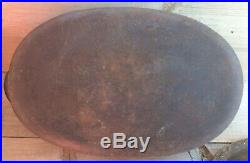 Vintage Rare Wagner #3 Cast Iron Oval Baker With Lid
